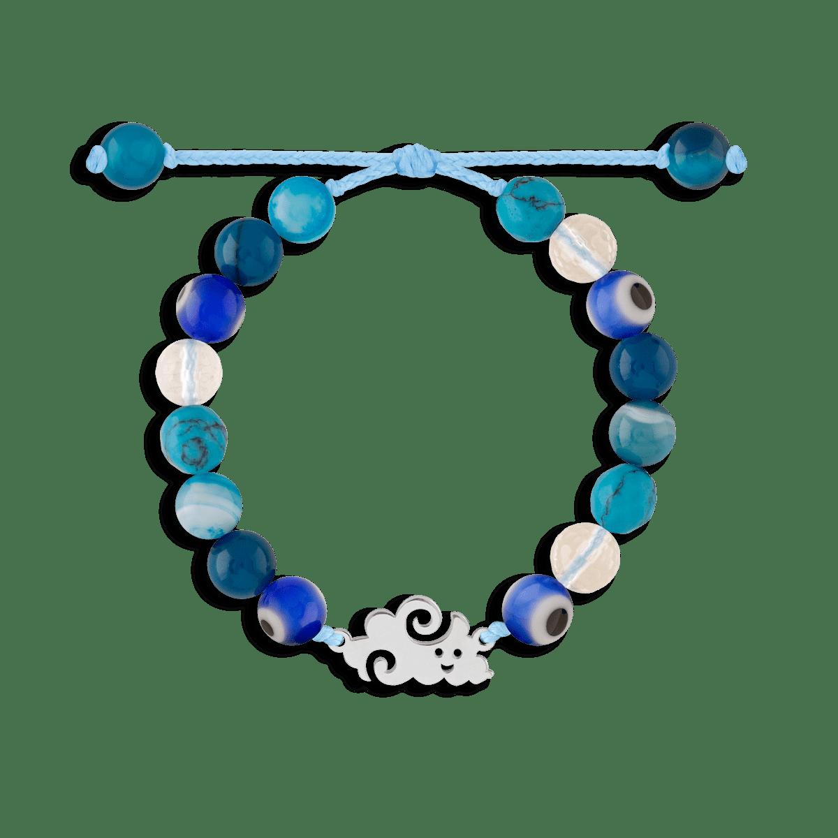 دستبند نقره سنگی ابر