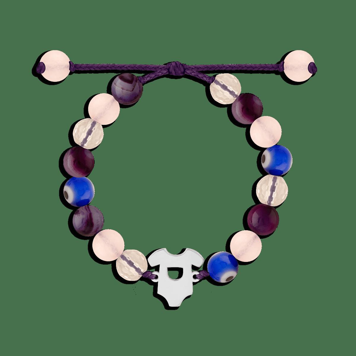 دستبند نقره سنگی لباس کودک
