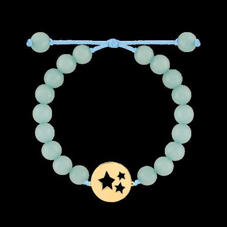دستبند طلا سنگی ستاره