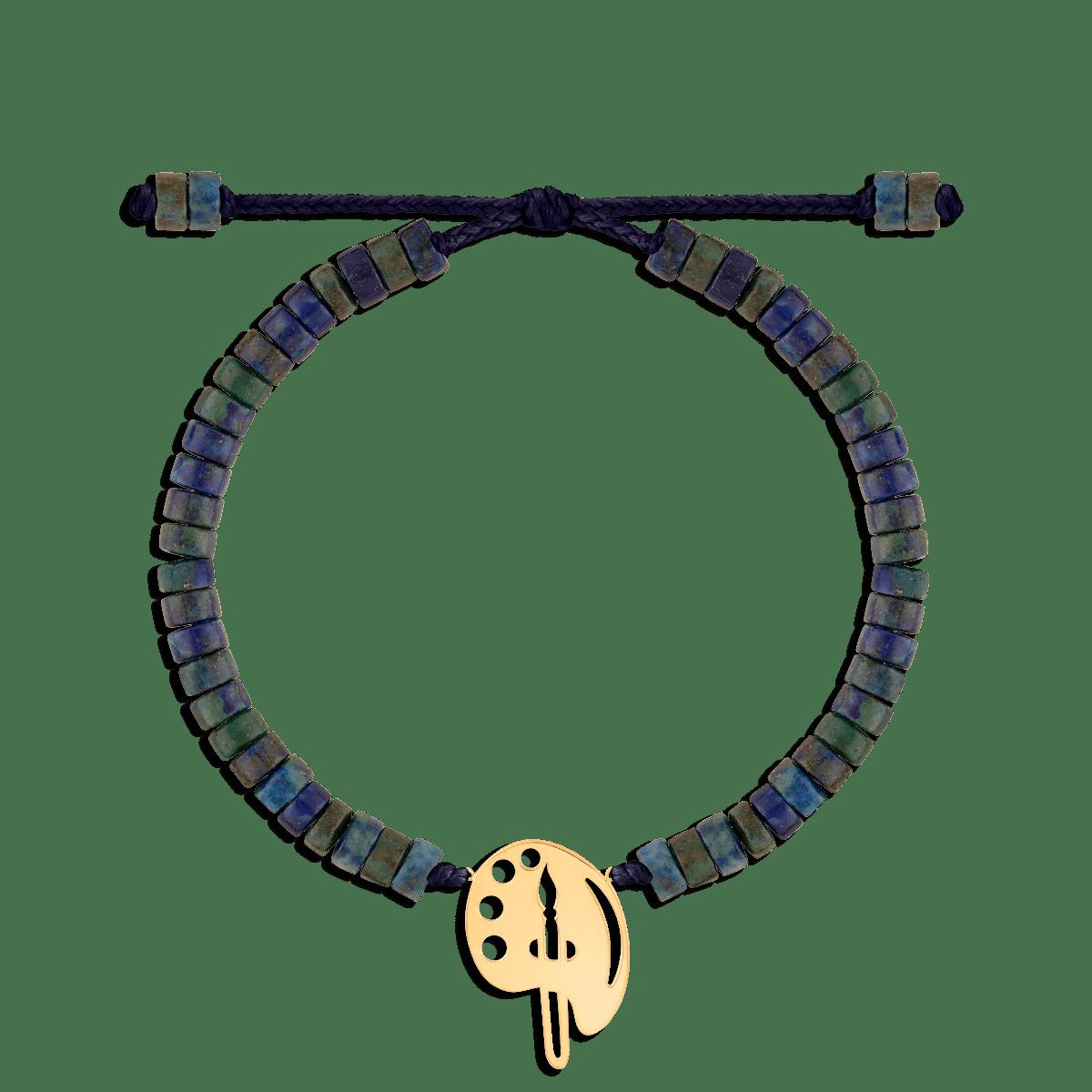 دستبند طلا سنگی پالت