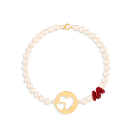 دستبند طلا پلاک قلب