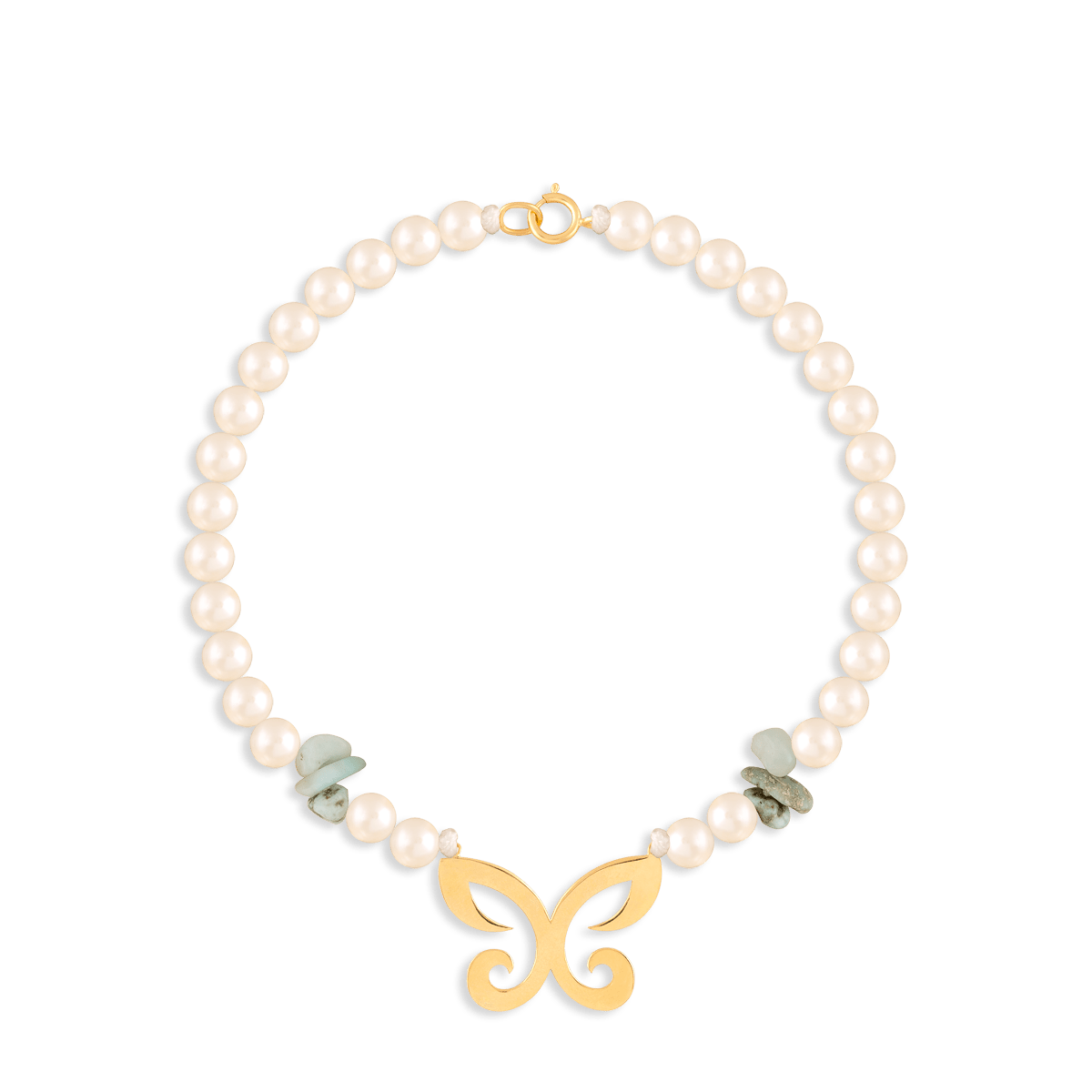دستبند طلا سنگی پروانه