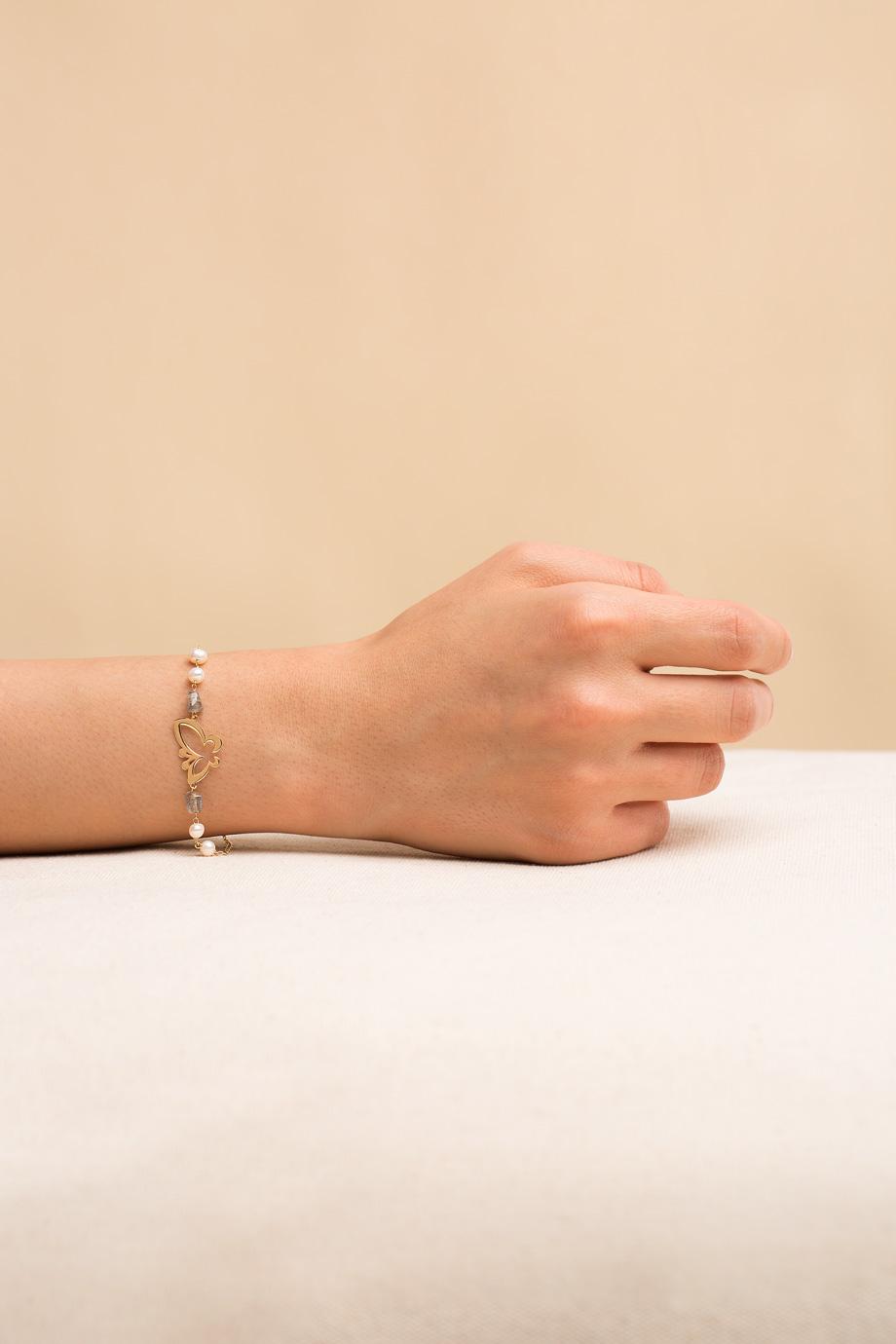 دستبند طلا پروانه