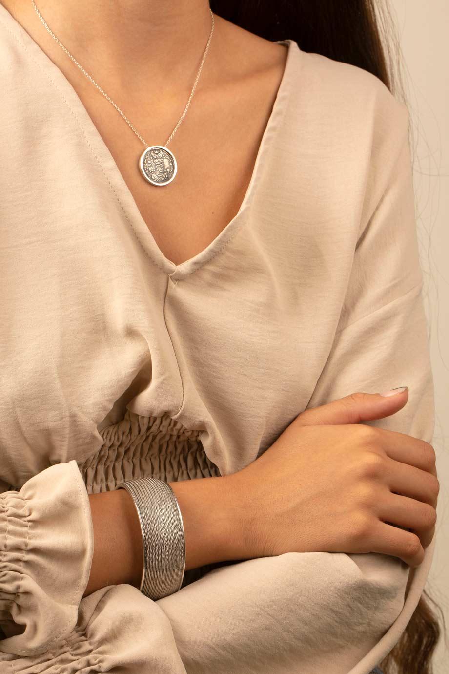 گردنبند نقره سکه ۲