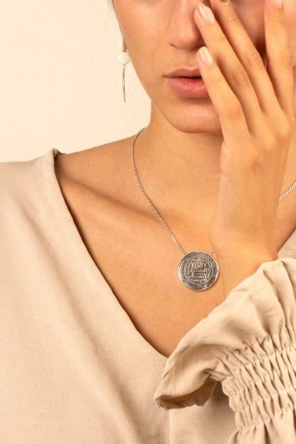 گردنبند نقره سکه ۳