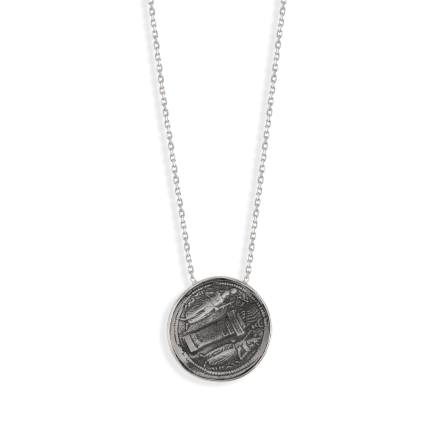 گردنبند نقره سکه