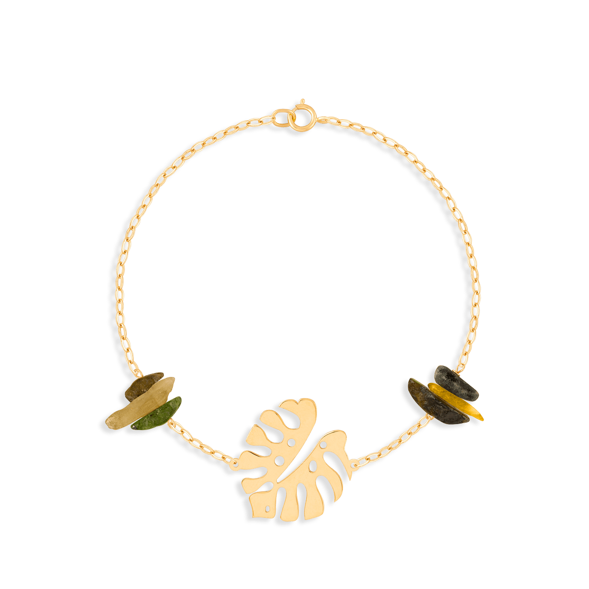 دستبند طلا برگ