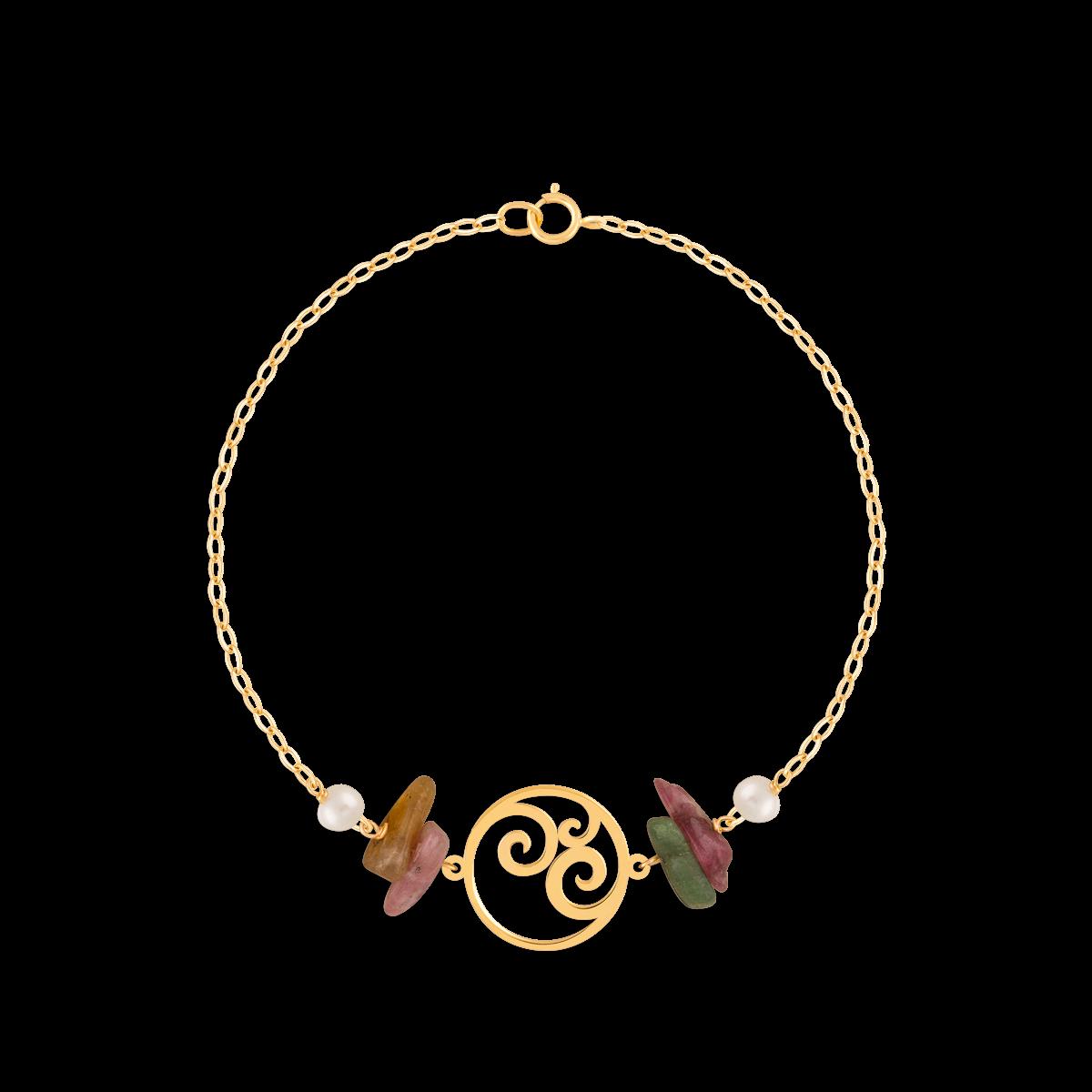 دستبند طلا دایره اسلیمی