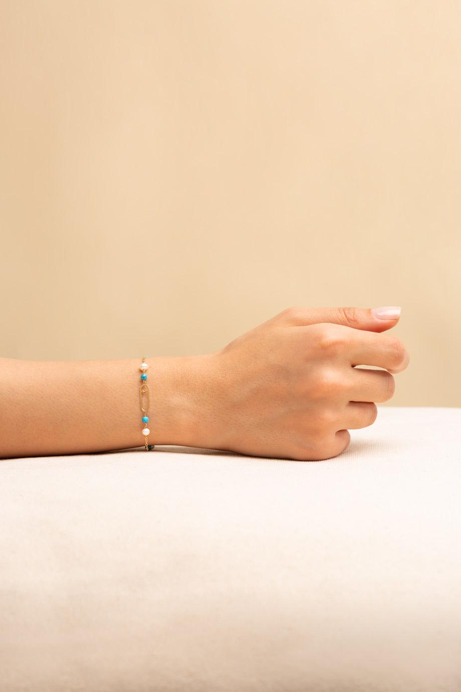 دستبند طلا گل لاله
