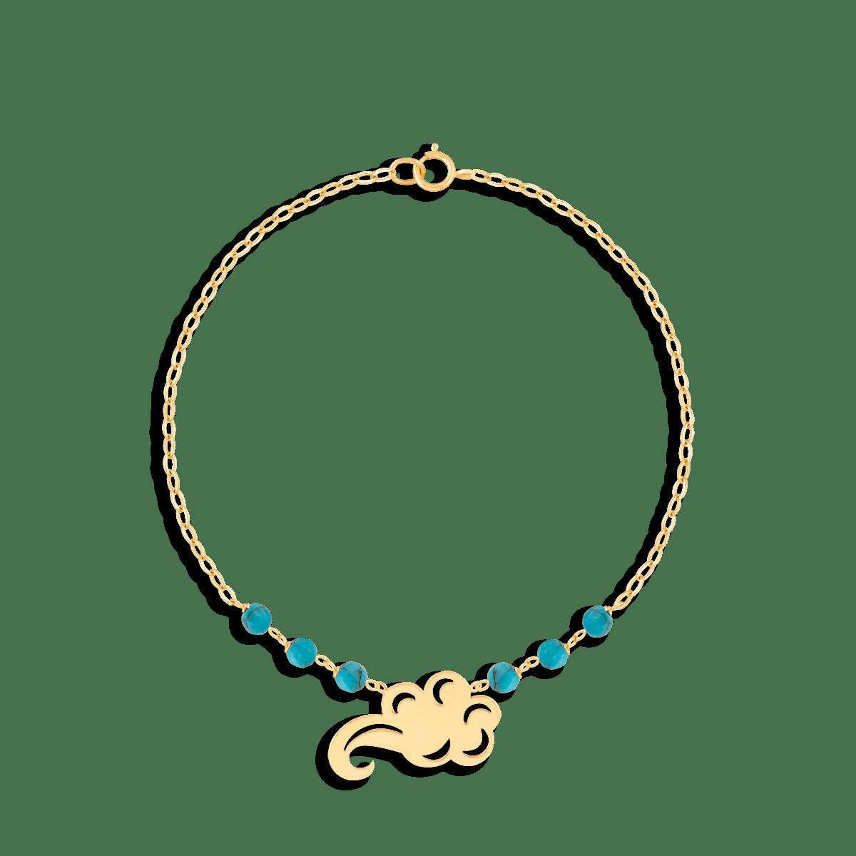 دستبند طلا ابر