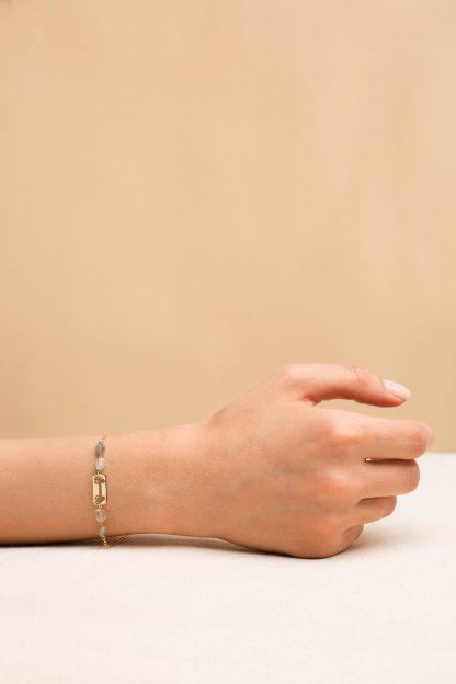 دستبند طلا پلاک پروانه