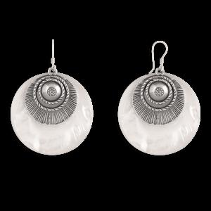 گوشواره نقره چشم و صدف