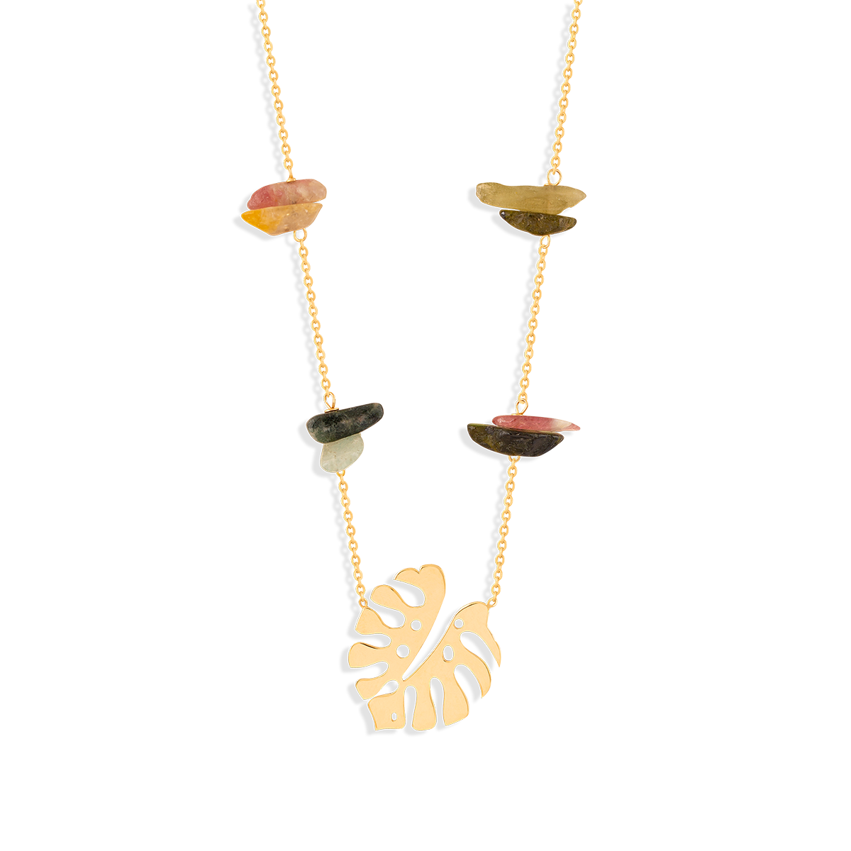 گردنبند طلا برگ