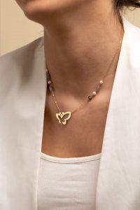 گردنبند طلا پروانه