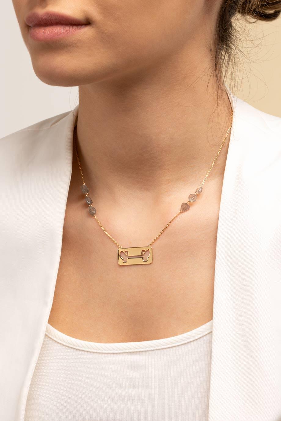 گردنبند طلا پلاک پروانه