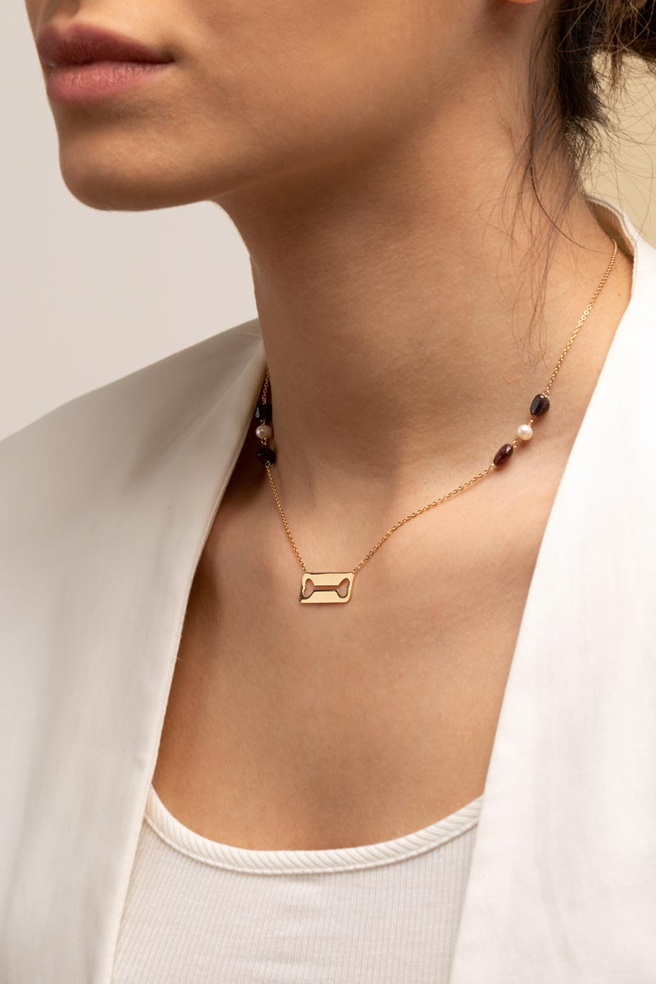 گردنبند طلا استخوان
