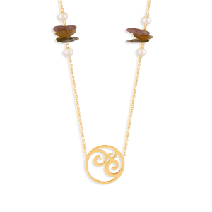گردنبند طلا دایره و پیچ