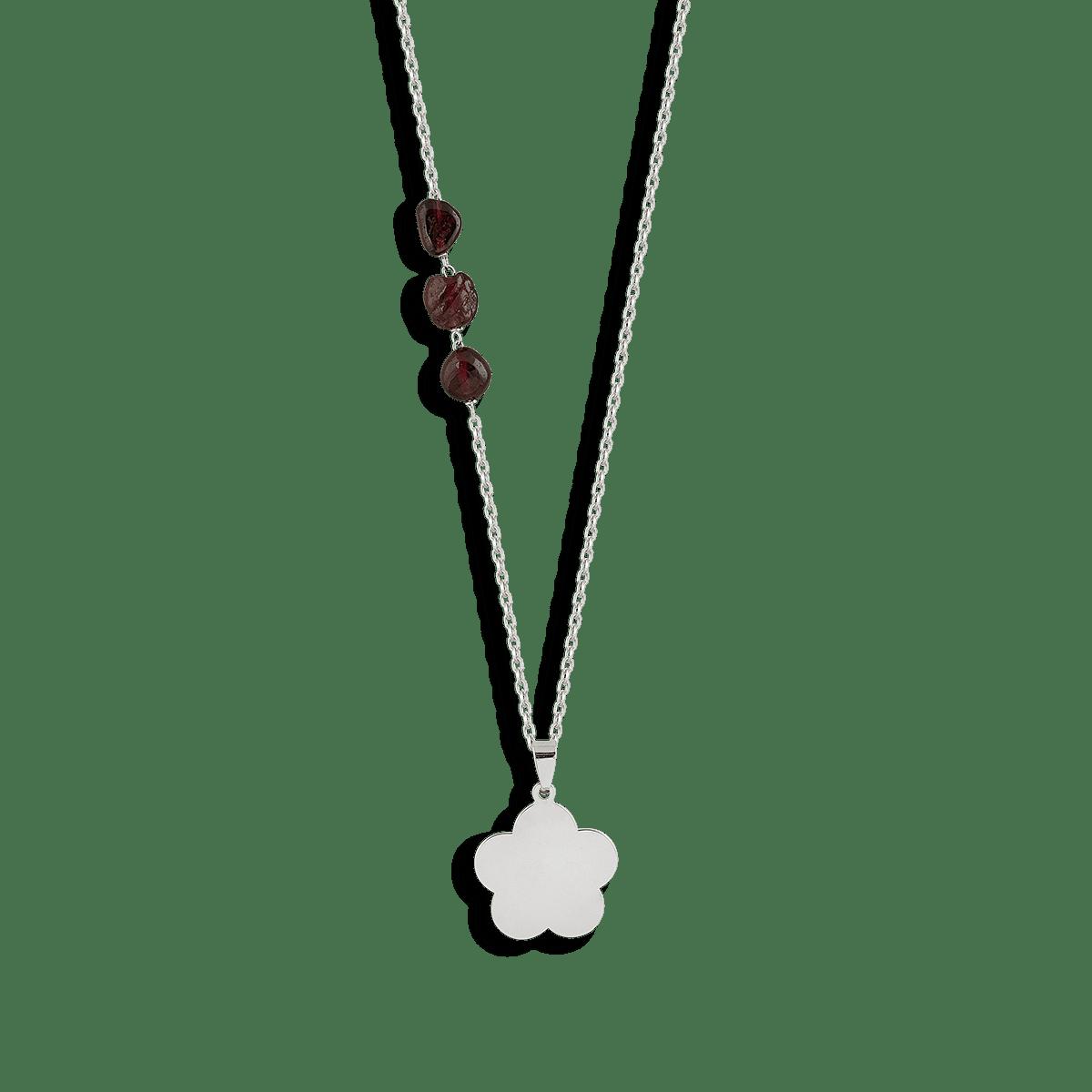 گردنبند نقره گل