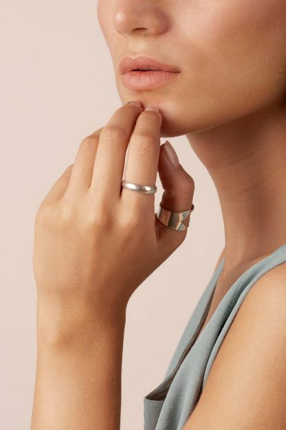 انگشتر نقره دامله