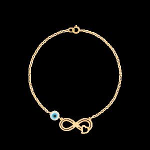 دستبند طلا بی نهایت و قلب