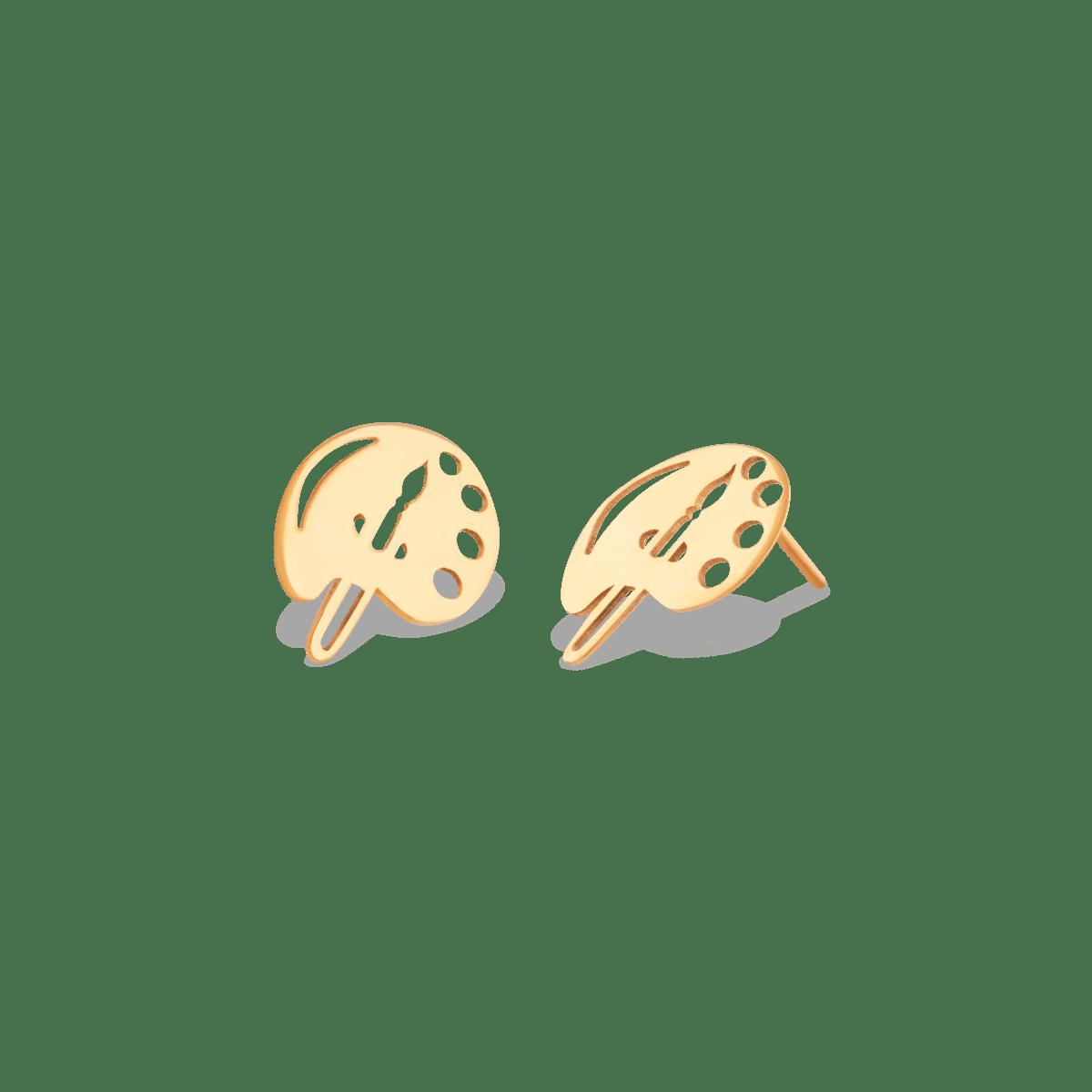 گوشواره طلا پالت رنگ