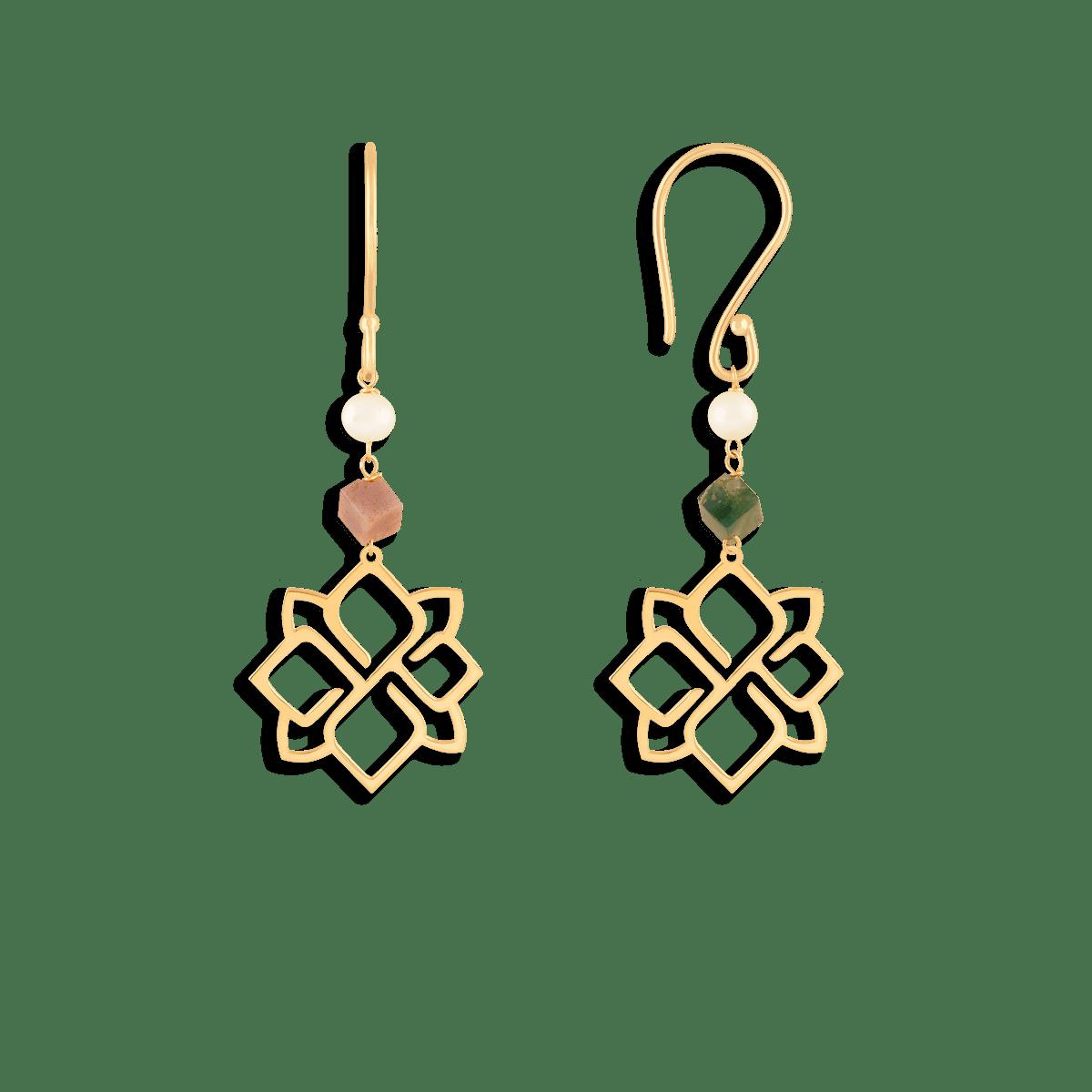 گوشواره طلا اسلیمی