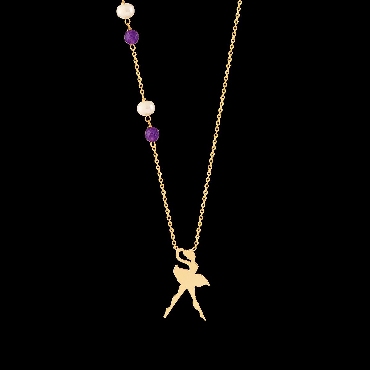 گردنبند طلا رقص باله
