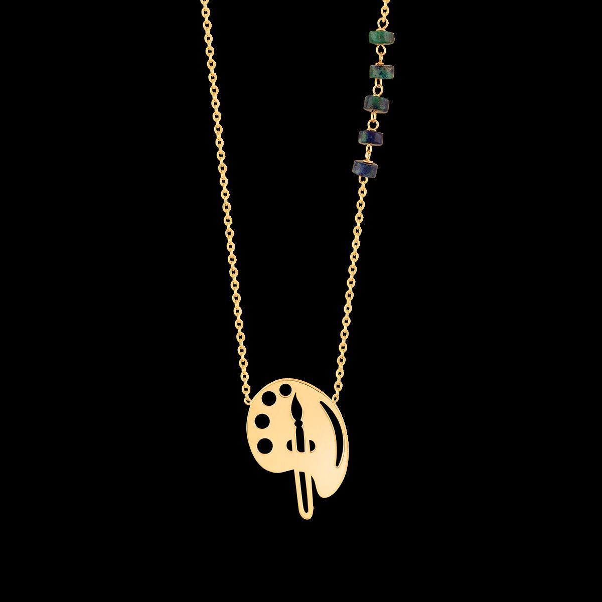 گردنبند طلا پالت نقاشی