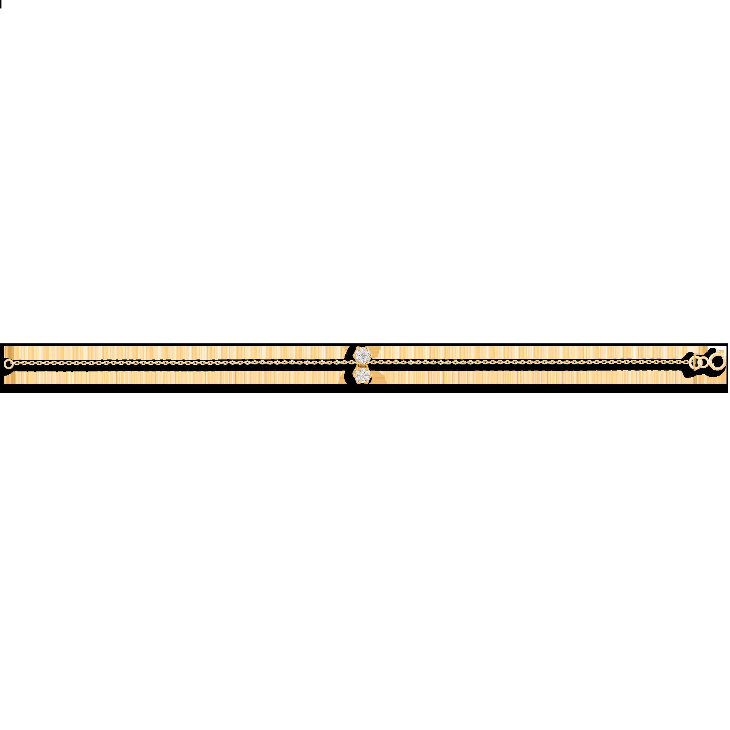 پابند طلا دو فلاور
