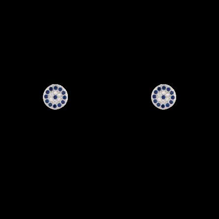 گوشواره نقره دایره نگین دار