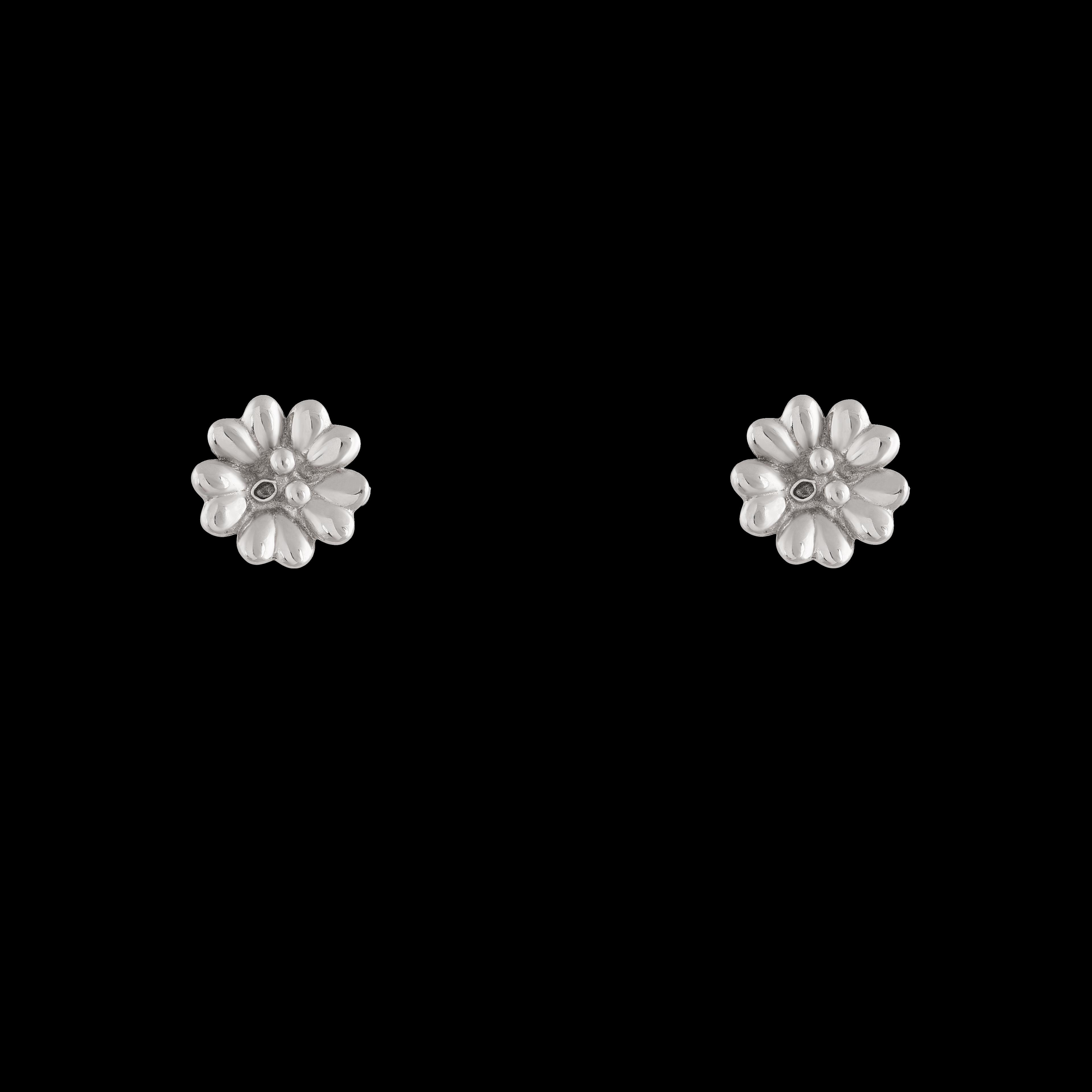 گوشواره نقره گل