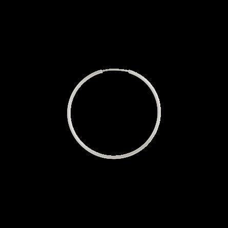 گوشواره نقره تک لنگه ای حلقه بزرگ