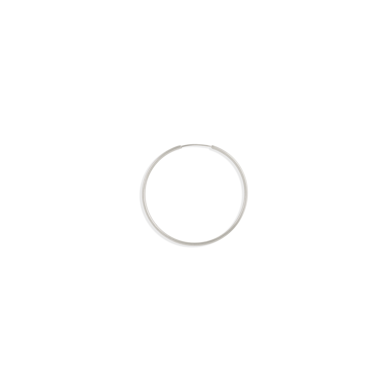 گوشواره نقره تک لنگه ای حلقه متوسط سایز 1