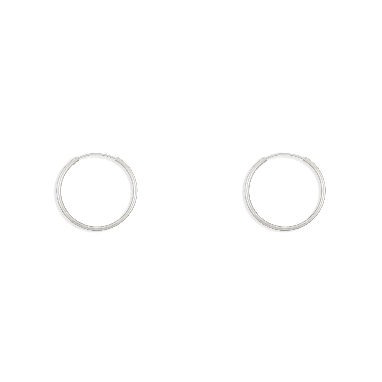 گوشواره نقره حلقه متوسط سایز 2