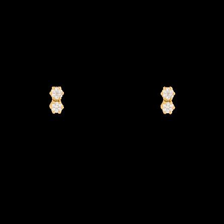 گوشواره طلا دو فلاور