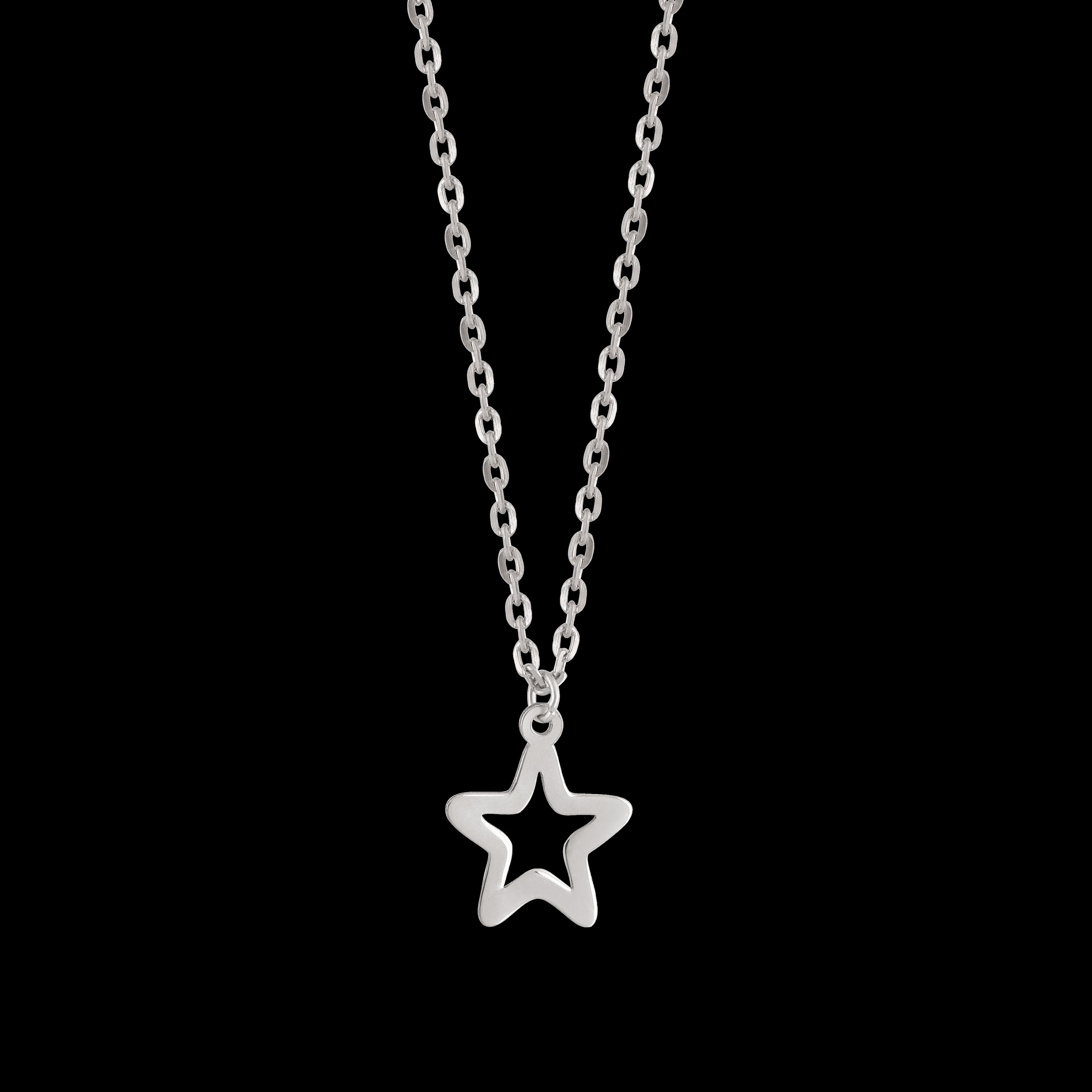 آویز ساعت نقره ستاره توخالی