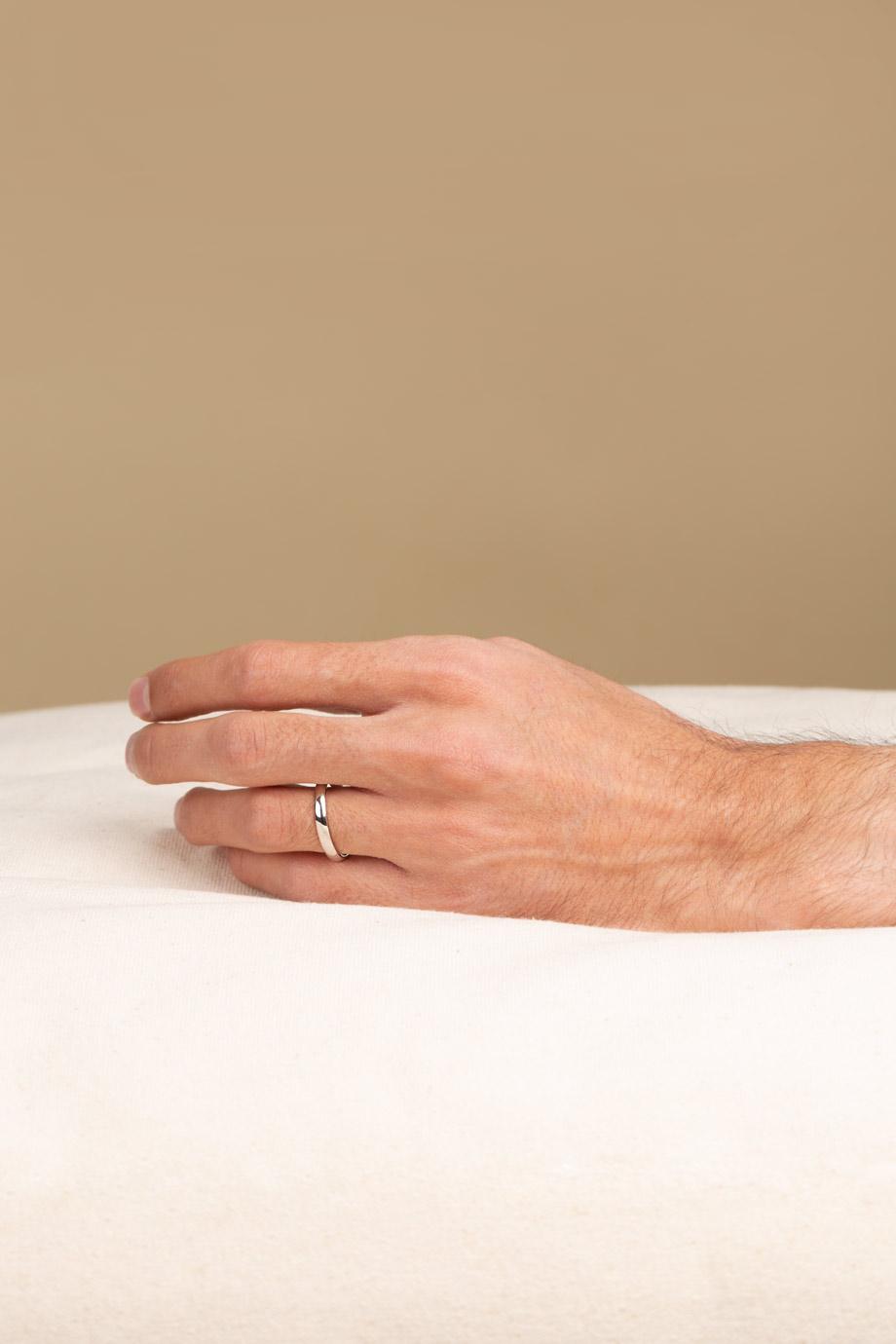 انگشتر نقره رینگ ساده