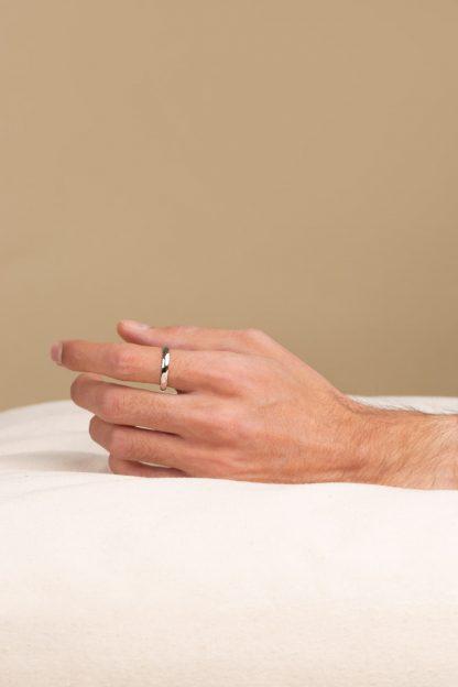 انگشتر نقره دامله نازک
