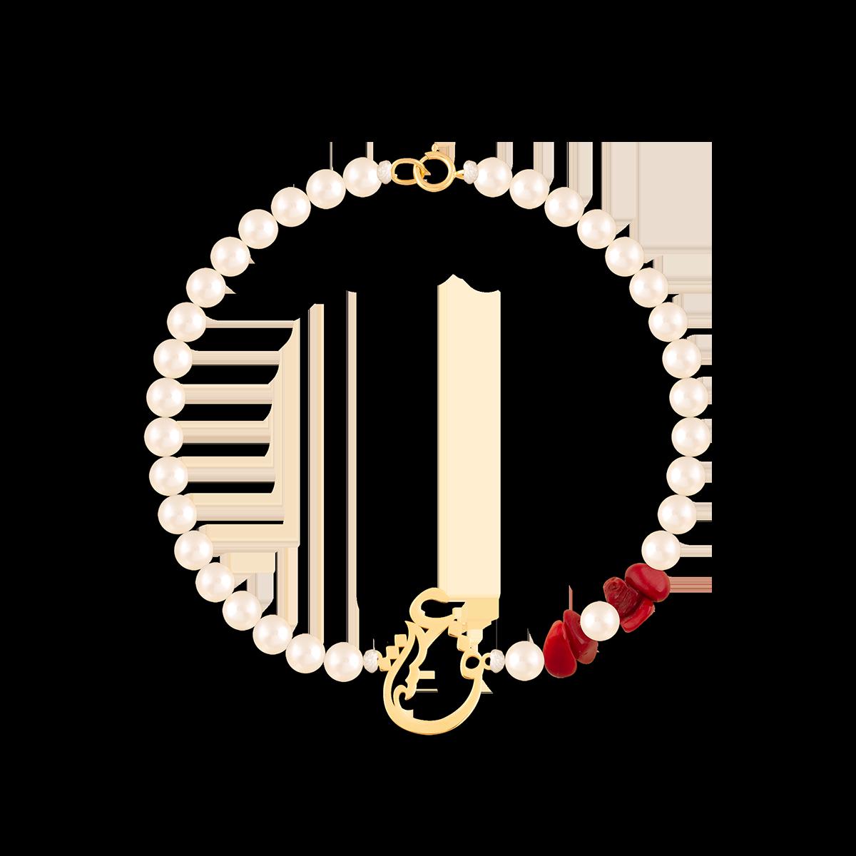 دستبند طلا سنگی عشق