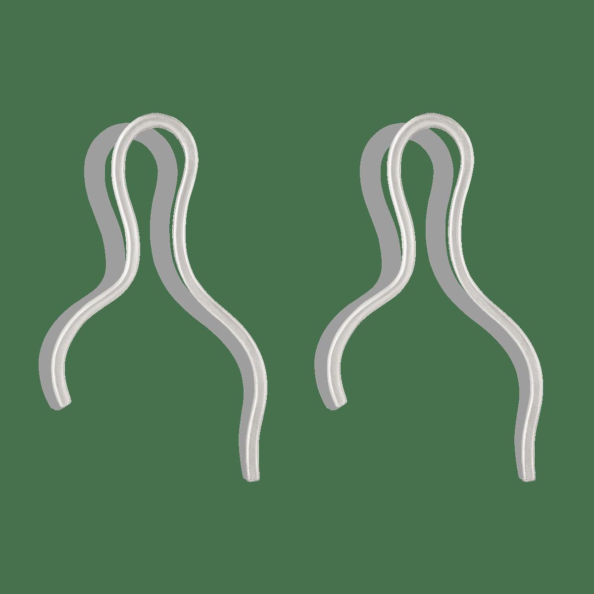 گوشواره نقره سیمپل کرلی Simple Curly