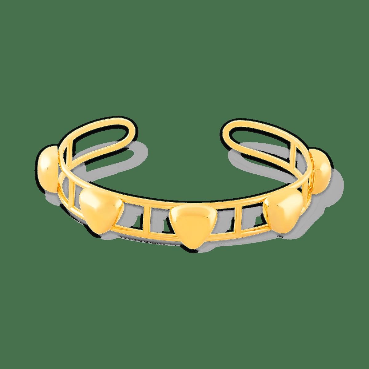 النگو طلا مثلث پنجتایی