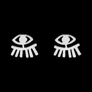 گوشواره نقره چشم و مژه