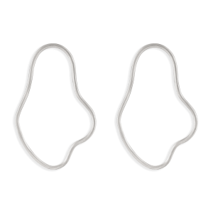 گوشواره نقره منحنی