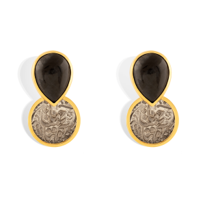 گوشواره طلا مون استون Moon Stone