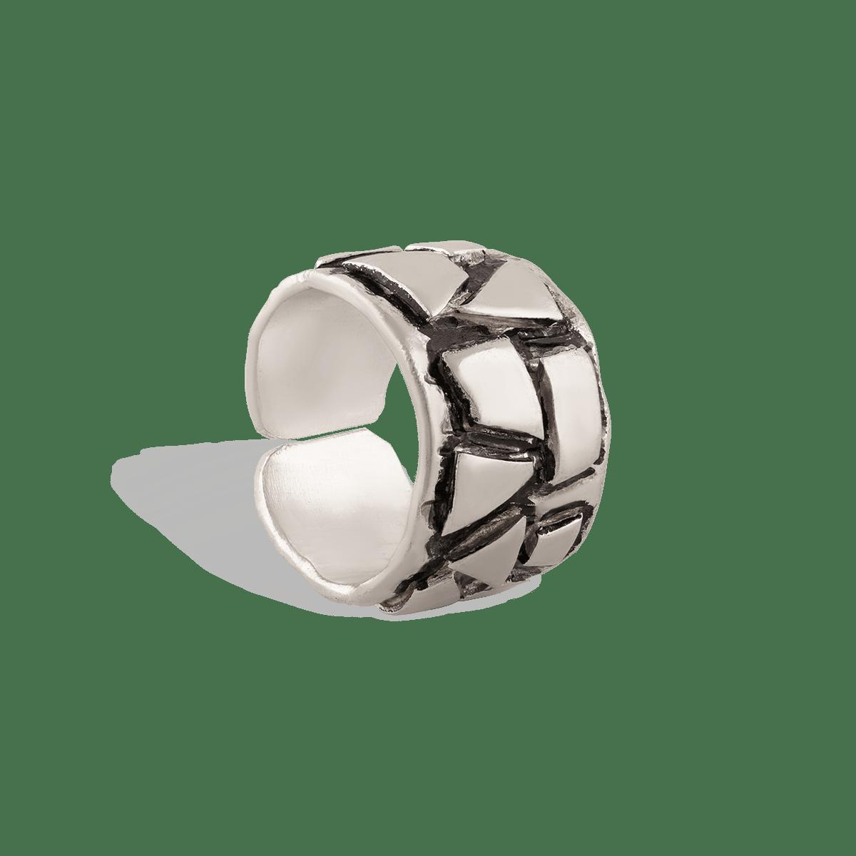 انگشتر نقره کروکودیل
