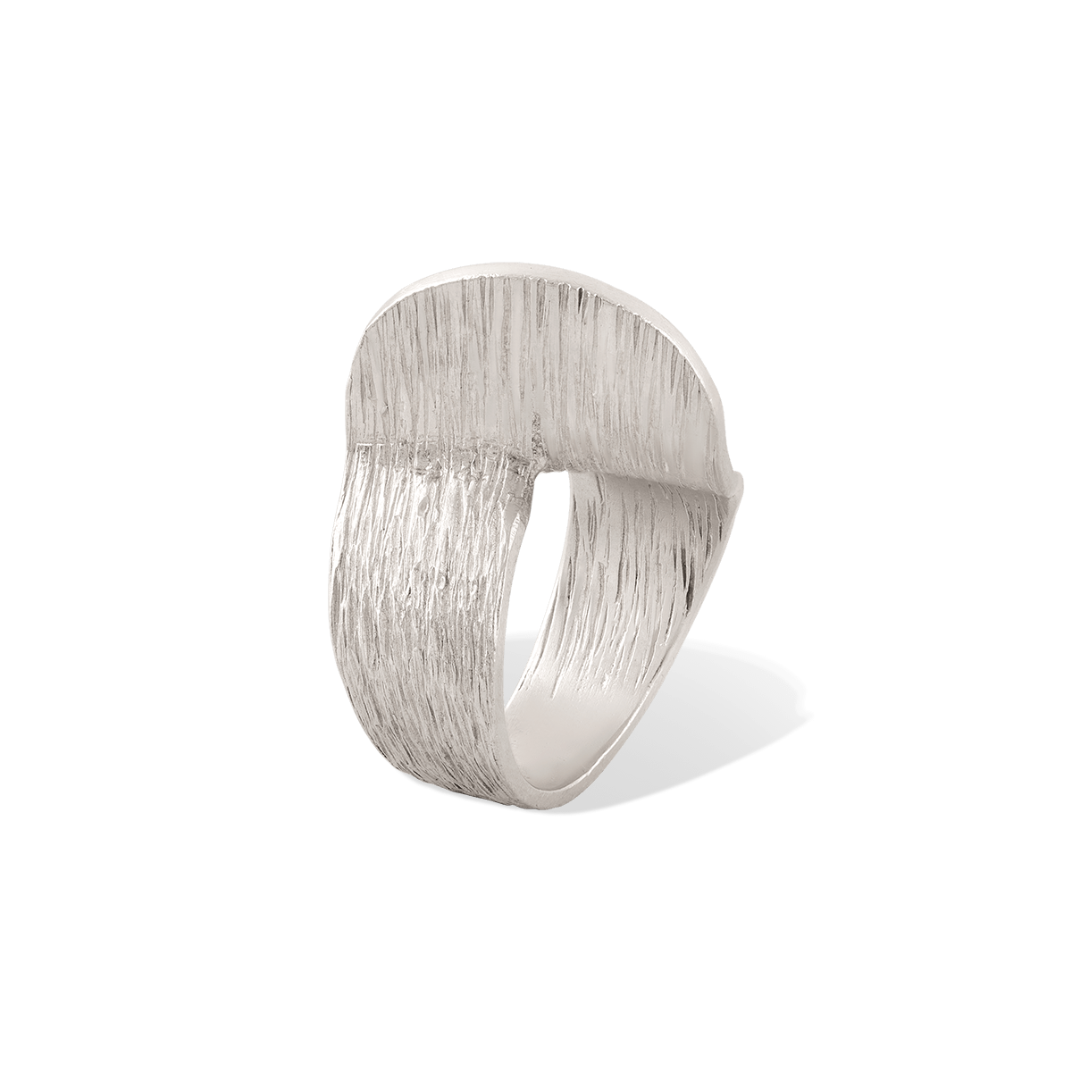 انگشتر نقره منحنی
