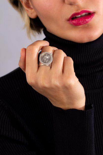 انگشتر نقره سکه