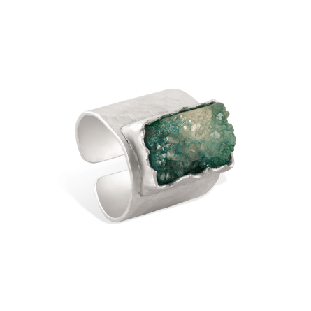انگشتر نقره سنگ مستطیل