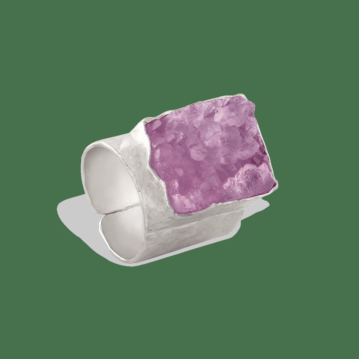 انگشتر نقره سنگ مربع