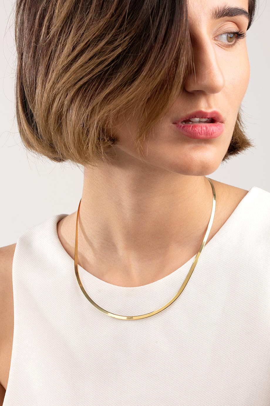 گردنبند طلا آینه ای
